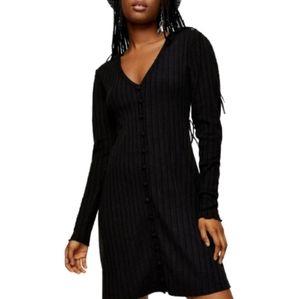 TOPSHOP Plain Cardigan Flippy Dress